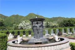 天寿陵园墓区水系