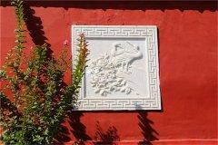 墙面汉白玉石雕花