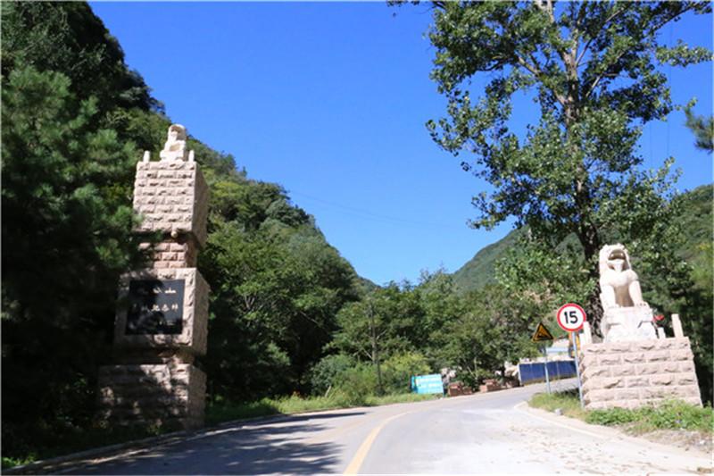北京九公山长城纪念林道路