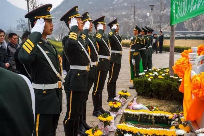 北京昌平桃峰陵园仪式