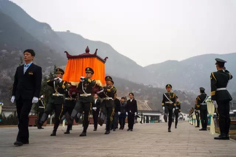 昌平桃峰陵园仪式