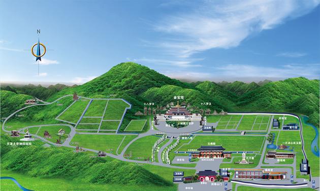 清东陵万佛园公墓平面图