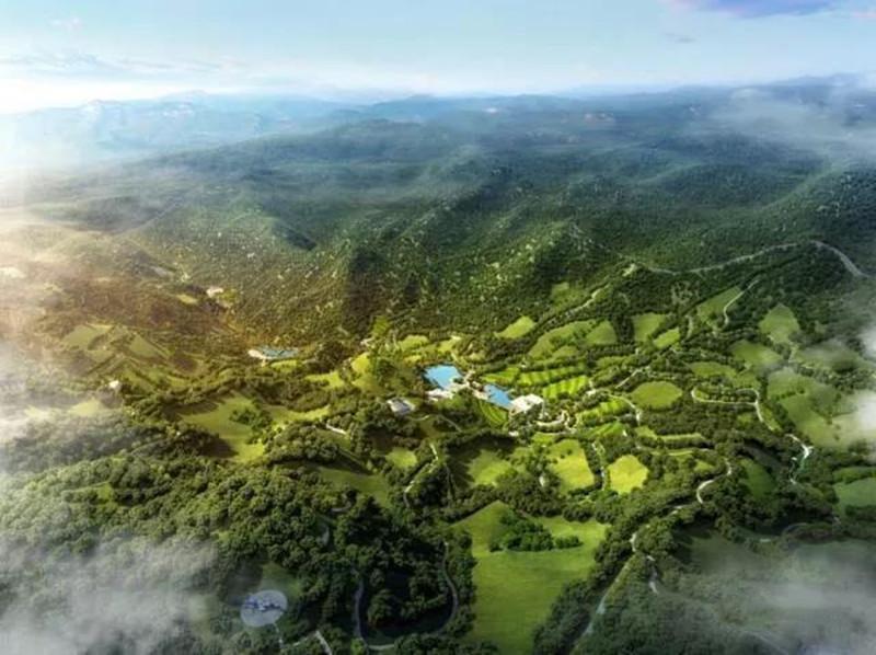 九公山长城纪念林俯瞰图