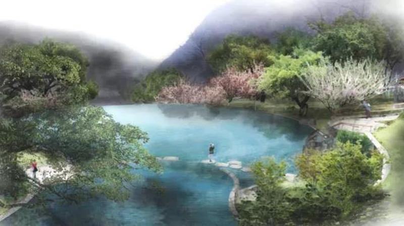 九公山长城纪念林水系
