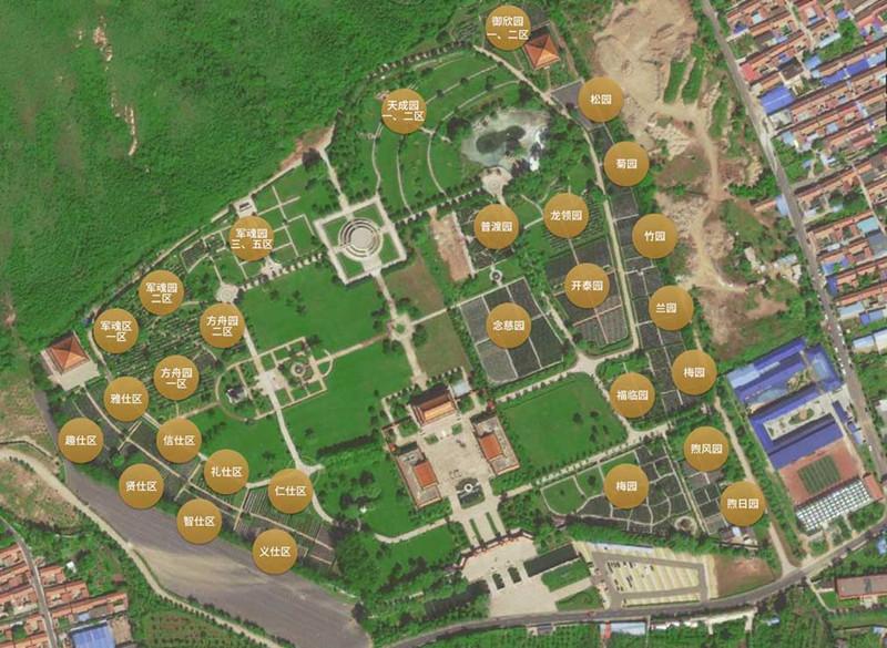 天寿陵园环境及平面图