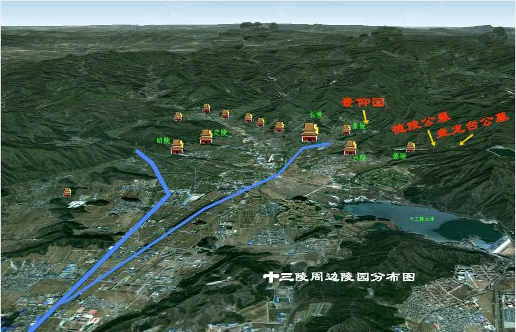 昌平排行前三陵园平面图