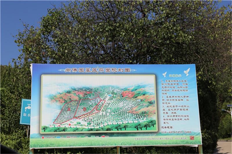 景仰园陵园规划图