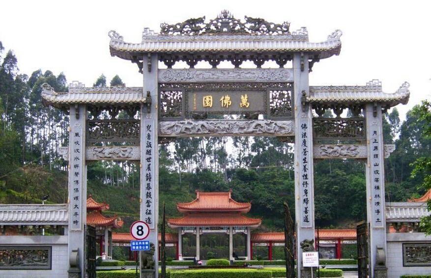 清东陵万佛园墓地的环境