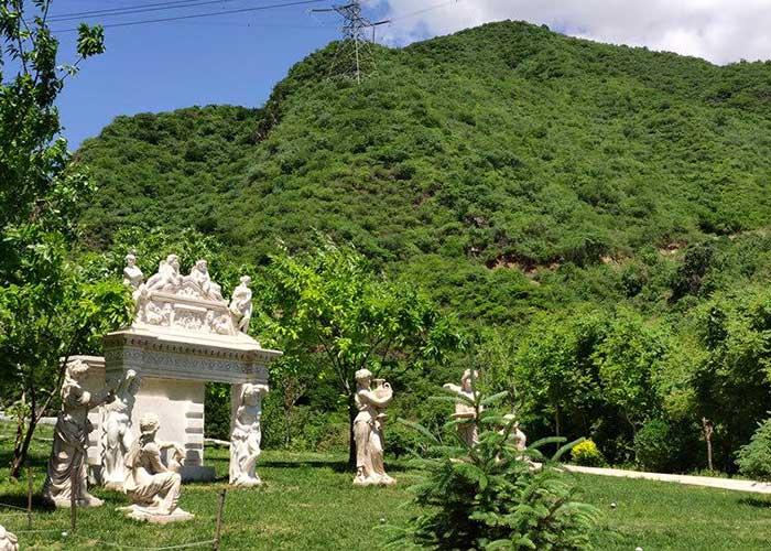 远郊怀柔九公山墓地图